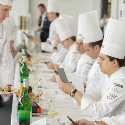 Marvin Böhm gewinnt den Bocuse d'Or Germany 2018 in Frankfurt am 26.03.2018 | Foto: Bocuse d'Or/Jörg Eberl | Abdruck honorarfrei - Beleg erbeten an lang@bocuse-dor.de - danke | Nur zur redaktionellen Verwendung! | www.eberl-photo.de | +49 152 01788990